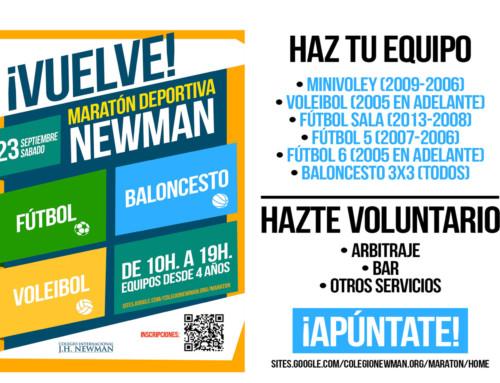El sábado 23 de septiembre vuelve la Maratón Deportiva Newman