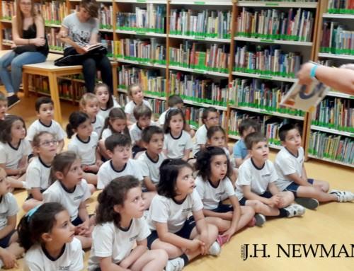 Los Dragones del Newman ya tienen carnet de la biblioteca