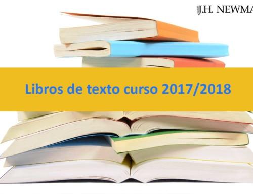Libros de texto curso 2017/2018