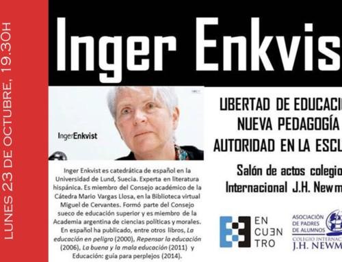Conferencia para padres con la catedrática Inger Enkvist
