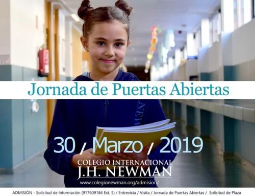 Jornada de Puertas Abiertas el 30 de Marzo de 2019 en el Newman