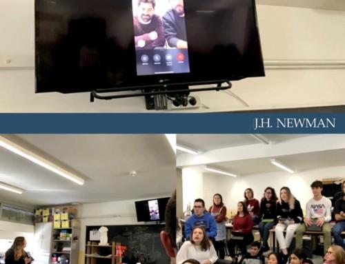 FaceTime de Bachillerato de Artes Newman con Pichiavo